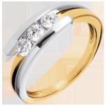 Verkäufe Trilogie das Kostbarer Kokon - Anziehungskraft - Gelb und Weißgold - 3 Diamanten 0. 41 Karat - 18 Karat