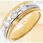 Trilogie éclipse or jaune-or blanc - 0.59 carats - 3 diamants