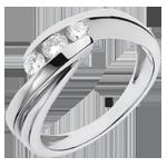 Online Kauf Trilogie Ring Kostbarer Kokon - Ritournelle - Weißgold - 3 Diamanten 0. 32 Karat - 18 Karat