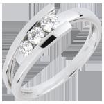Verkauf Trilogie Ring Kostbarer Kokon - Trianon - Weißgold - 3 Diamanten 0. 31 Karat - 18 Karat