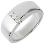 women Trilogy band white gold - 3diamonds
