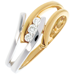 gifts women Trilogy Precious Nest -Arabesque - yellow and white gold - 0.11 carats - 18 carats
