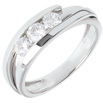 present Trilogy Precious Nest - Fusion - white gold - 0.53 carat - 3 diamonds - 18 carats