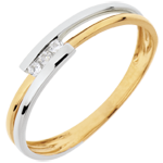 Trilogy Precious Nest - Ring Adoration - white gold and yellow gold - 18 carats