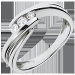 Trilogy Ring Nid Précieux - Ritounelle - Wit Goud - 0.21 karaat - 3 Diamanten - 18 karaat