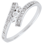 Trilogy Ring Precious Nest - Elyssa - white gold - 18 carats
