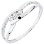 weddings Trilogy Ring Precious Nest - Loving Kiss - white gold - 18 carats