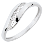gift woman Trilogy Ring Precious Nest - My Dear - white gold - 18 carats
