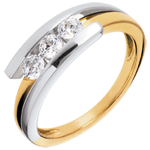 women Trology Precious Nest - Fusion - yellow gold and white gold - 0.41 carat - 3 diamonds