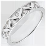 Trouwring Frisheid - Oude Rome - Wit goud -7 diamanten - 18 karaat