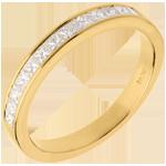 Trouwring Geel Goud betegeld – rails - 0.5 karaat - 13 Diamanten
