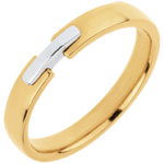 Trouwring de Gouden Unie - 18 karaat witgoud en geelgoud