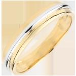 Trouwring Helios Wit goud - Geel Goud