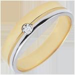 Trouwring Olympia Diamant - Gemiddeld model – Tweekleurig