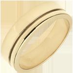 Trouwring Olympia - Groot model - geelgoud - 18 karaat goud