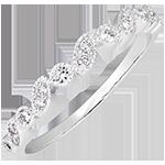 Trouwring Oostelijke blik - variatie - wit goud 9 karaat en diamanten