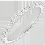 gouden juweel Trouwring wit goud Radiant - 38 diamanten - 0,57 karaat - 18 karaat