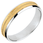 Two Gold Archi Wedding Ring