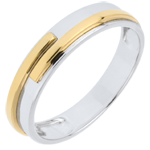 present Two Golds Titan Wedding Ring