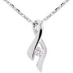Hochzeit Unendlicher Anhänger Weißgold - Diamant 0. 13 Karat - 9 Karat