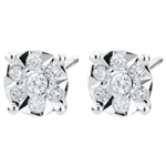 Venice Stud Earrings with 20 diamonds
