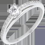Geschenk Frauen Verlobungsring - Avalon - Diamanten 0.195 Karat - Weißgold und Diamant