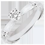 Online Verkauf Verlobungsring Heiliger Urwald - 0.2 Karat Diamant - 18 Karat gebürstetes Weißgold