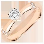 Geschenke Verlobungsring Heiliger Urwald - 0.2 Karat Diamant - 18 Karat Rotgold