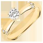 Verlobungsring Heiliger Urwald - 0.2 Karat Diamant - 9 Karat Gelbgold