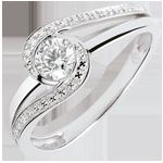 Geschenk Frauen Verlobungsring Nid Précieux - Preciosa - Diamant 0.3 Karat - Weißgold 9 Karat