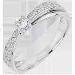 Online Verkäufe Verlobungsring Schicksal - Diaphan - Diamant 0.1 Karat - 18 Karat