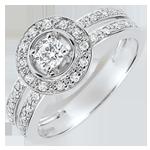 Geschenke Frauen Verlobungsring Schicksal - Lady - 0.16 Karat Diamant - 18 Karat Weißgold