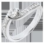 Frau Verlobungsring Schicksal - Solstice d'Eté - Weißgold besetzt mit 17 Diamanten - 0.49 Karat - 18 Karat