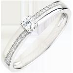 Verlovingsring Destiny - Wonder - 0.1 karaat Diamanten - 9 karaat witgoud
