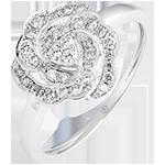 Verlovingsring frisheid - Nina - wit goud 18 karaat en diamanten