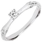 Verlovingsring Gewijde Jungle - diamant 0.09 karaat - geborsteld witgoud 18 karaat