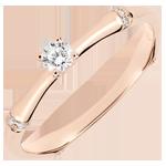 Verlovingsring Heilige Jungle - Diamant 0.09 karaat - 9 karaat rozégoud