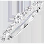 Verlovingsring Kleine hangers - wit goud 18 karaat en diamanten
