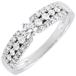 Verlovingsring Lotsbestemming - Medici - wit goud - 0.10 karaat - 18 karaat