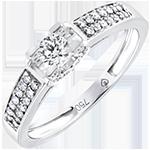Verlovingsring Origine - Godin - 9 karaat witgoud met Diamanten