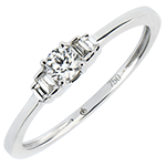 Verlovingsring Overvloed - Jayne - 18 karaat witgoud met diamanten