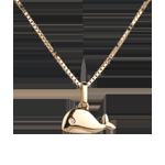 Walvisje - groot model - geel goud