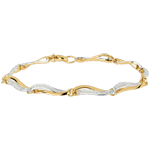 wedding Waters of the Nile Two Gold and Diamond Bracelet