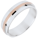 Wedding - Duo Large all gold - rose gold and white gold