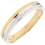 gift women Wedding Ring Elegance - Yellow gold and white gold - 9 carats