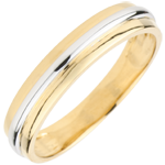 present Wedding Ring Helio - Yellow gold and white gold