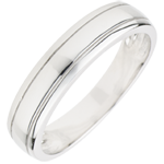 gift Wedding Ring Horizon - White gold