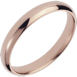 gift woman Wedding Ring Pink gold - 18 carat