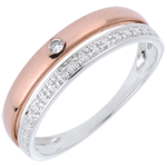 gift Wedding Ring Pretty - Pink gold and white gold