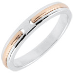 Wedding Ring Promise - rose gold and white - small model - 18 carat